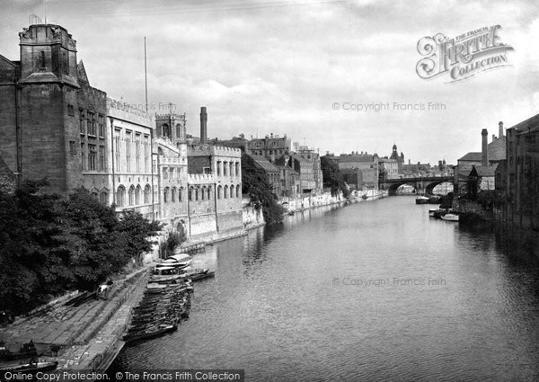 Photo of York, Guildhall From Lendal Bridge 1921