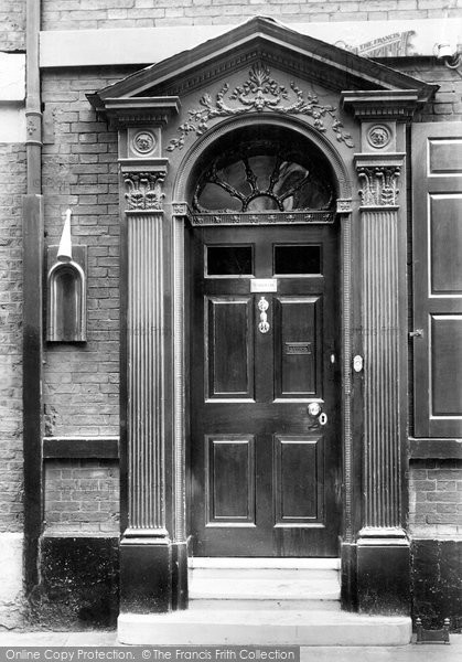 Photo of York, High Petergate, Ancient Torch Extinguisher 1909