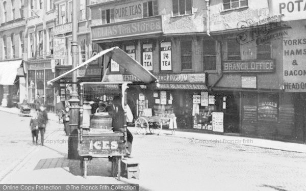 Photo of York, Ice Cream Stall, The Pavement c.1900