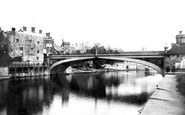 York, Lendal Bridge c1885