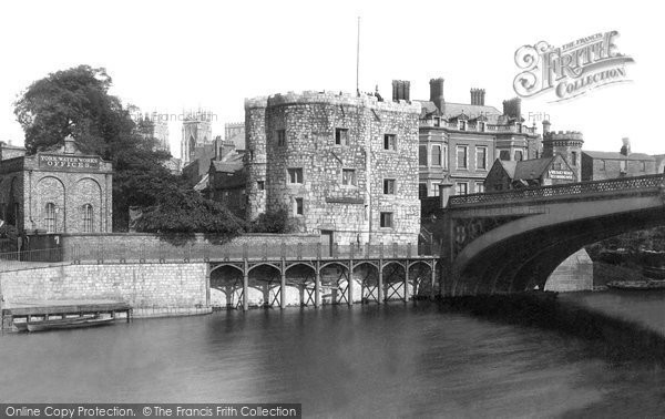 Photo of York, Lendal Tower And Bridge 1885