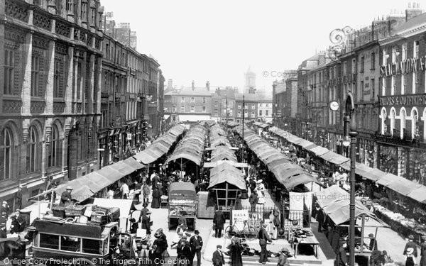 Photo of York, Market In Parliament Street 1908