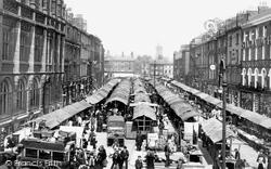 York, Market In Parliament Street 1908
