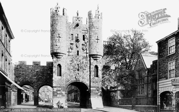 Photo of York, Micklegate Bar 1886, ref. 18439