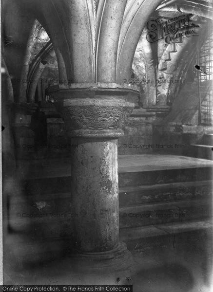 Photo of York, Minster, Byzantine Pillars 1911