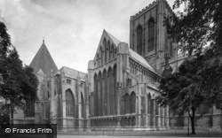 Minster, Chapter House And North Side 1921, York