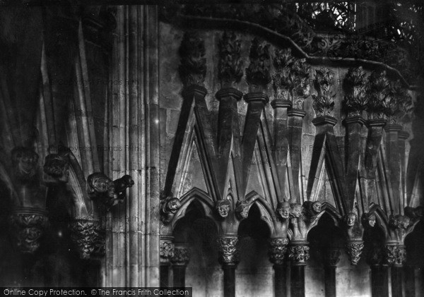Photo of York, Minster, Chapter House Carvings 1913