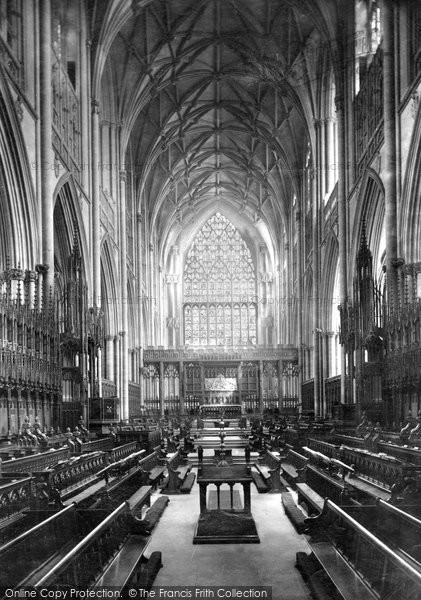 Photo of York, Minster, Choir East c.1877