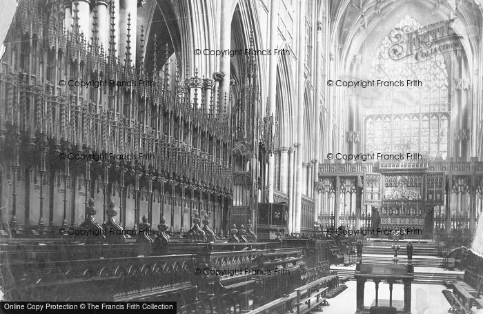 Photo of York, Minster, Choir East c.1885