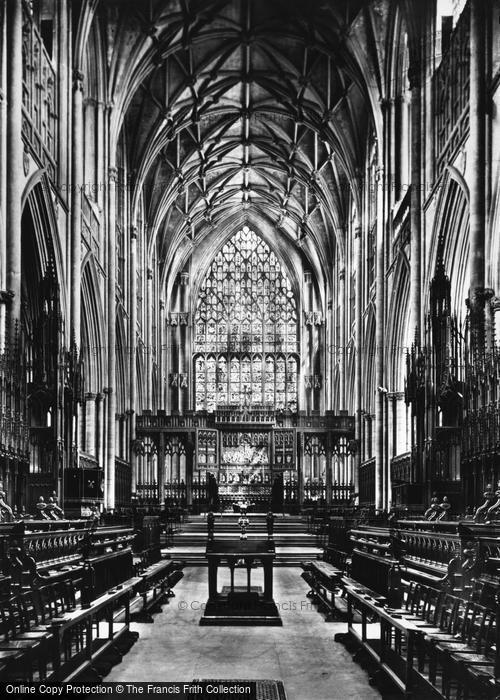 Photo of York, Minster, Choir East c.1885