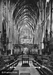 York, Minster, Choir East c.1885