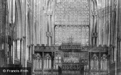 Minster, Choir East c.1885, York