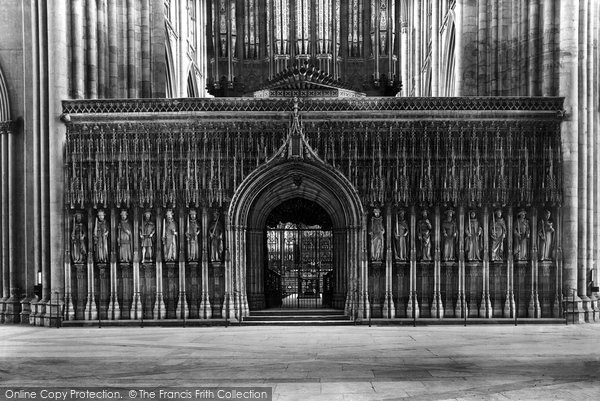 Photo of York, Minster, Choir Screen 1891