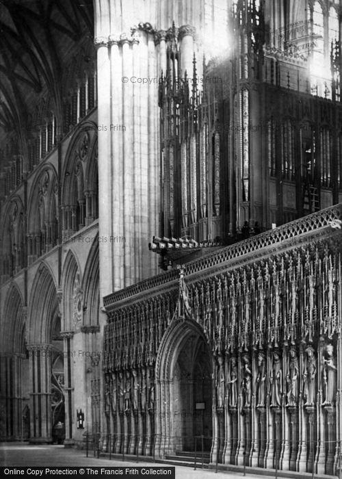 Photo of York, Minster, Choir Screen c.1885