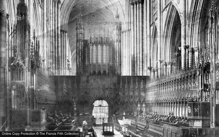 Photo of York, Minster, Choir West 1909