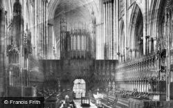 York, Minster, Choir West 1909