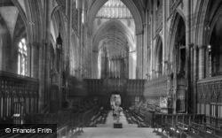 Minster, Choir West 1911, York