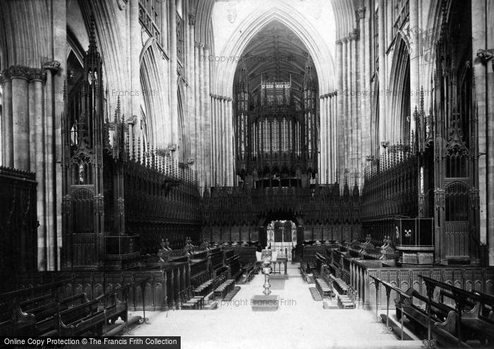Photo of York, Minster, Choir West c.1885