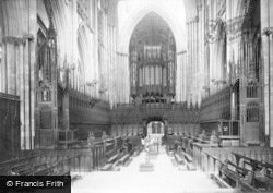 York, Minster, Choir West c.1885
