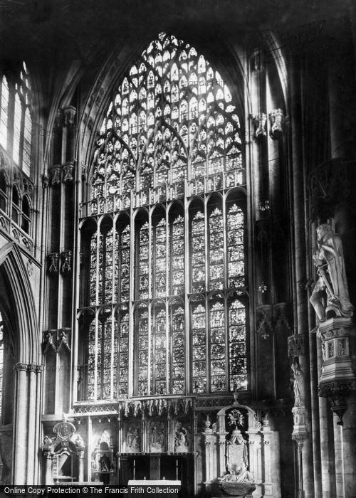 Photo of York, Minster, East Window 1908