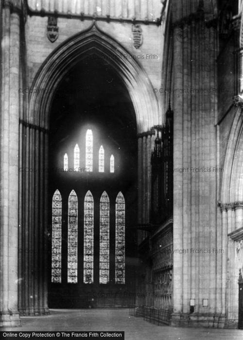 Photo of York, Minster, Five Sisters' Window 1893