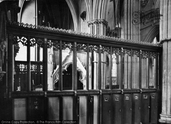 Photo of York, Minster, Five Sisters (Women Of The Empire) Memorial Screen 1925