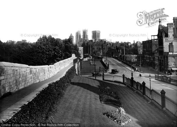 Photo of York, Minster From City Walls c.1940