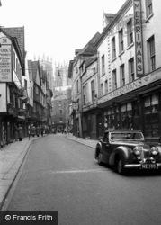 Minster From Low Petergate 1953, York