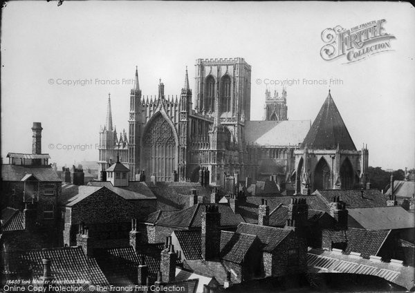 Photo of York, Minster From Monk Bar c.1885