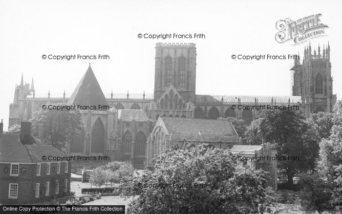 Photo of York, Minster From The City Walls c.1950