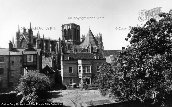 Photo of York, Minster From The City Walls c.1955