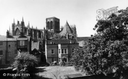 York, Minster From The City Walls c.1955