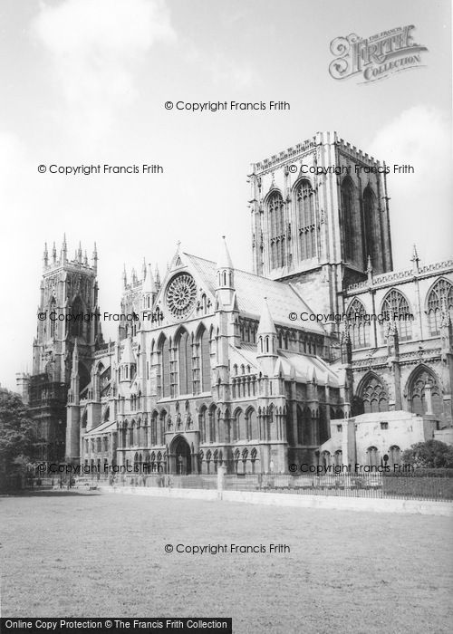 Photo of York, Minster From The South c.1960