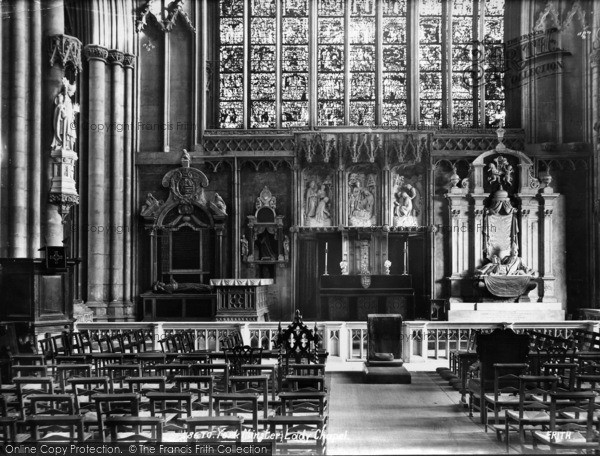 Photo of York, Minster, Lady Chapel 1907