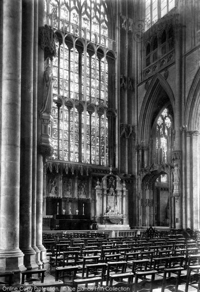 Photo of York, Minster, Lady Chapel 1909