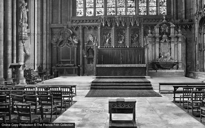 Photo of York, Minster, Lady Chapel, Reredos 1925