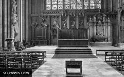 York, Minster, Lady Chapel, Reredos 1925