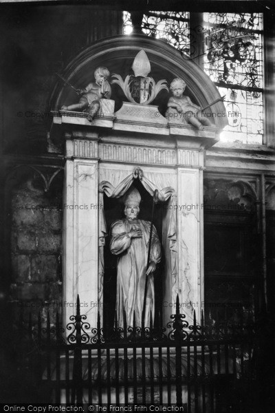 Photo of York, Minster, Lamplugh Monument 1913