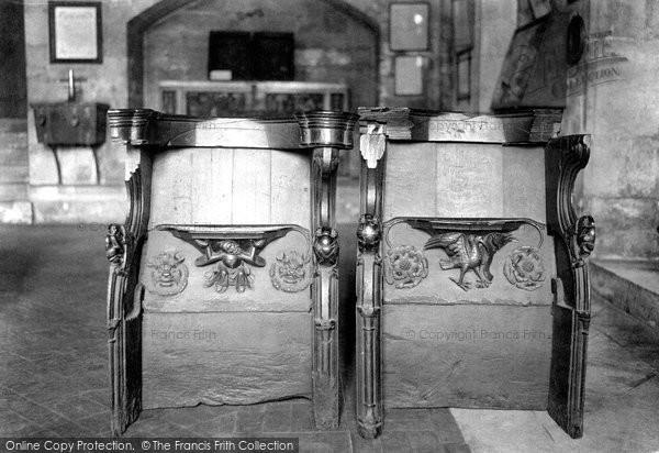 Photo of York, Minster, Miserere Seats In Treasury 1913