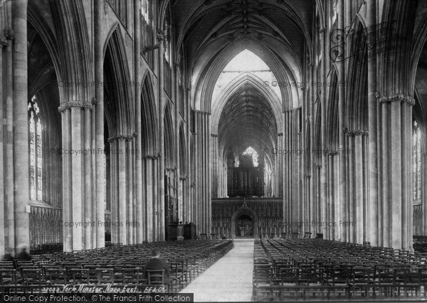 Photo of York, Minster, Nave East 1893