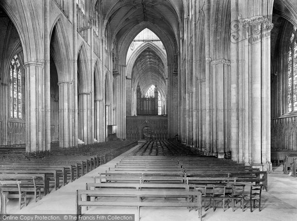 Photo of York, Minster, Nave East 1925
