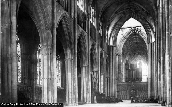 Photo of York, Minster, Nave East c.1885