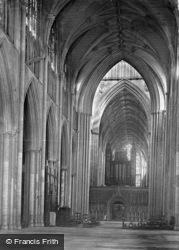 Minster, Nave East c.1885, York