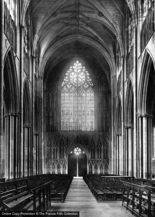 Photo of York, Minster, Nave West 1891