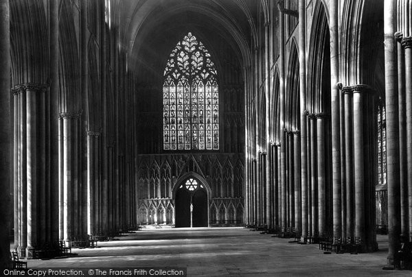 Photo of York, Minster, Nave West 1907