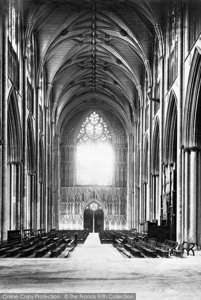 Photo of York, Minster, Nave West c.1880