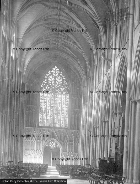 Photo of York, Minster, Nave West c.1885