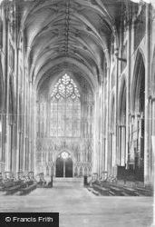 York, Minster, Nave West c.1885