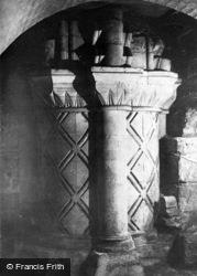 York, Minster, Norman Pillar In Crypt c.1885