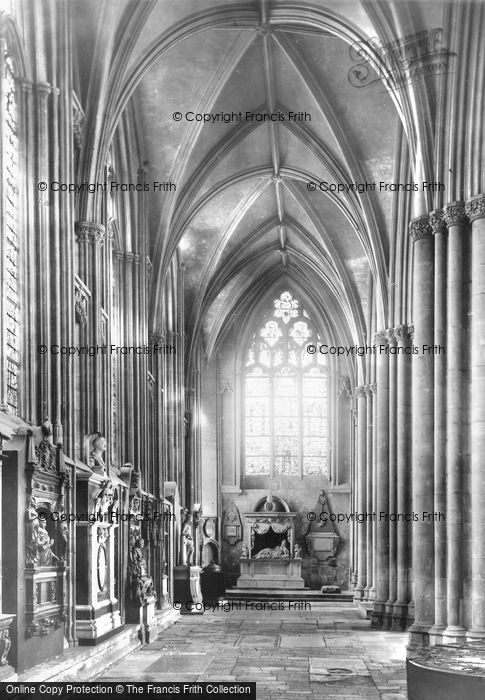 Photo of York, Minster, North Choir Aisle c.1880